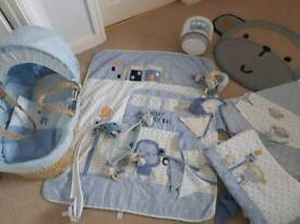 Next cheeky monkey nursery set good condition, curtains, bedding, light shade, bunting, mat