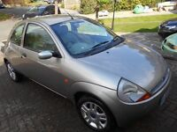 Ford KA 2003. Parts or project. ++Brand new battery. Leather Interior. Alloy Wheels.++