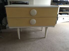Chest of drawers upcycled retro