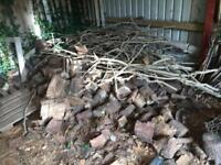 Fire wood, mostly pine I think, been kept dry. Plus kindling. Over 2 years old at least.