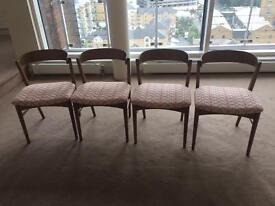 Authentic Orla Kiely chairs x 4 stem pattern