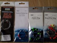 Sea fishing - rigs, feathers, swivels etc. All new