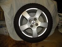 PEUGEOT ALLOYS WITH SNOW TYRES