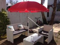Brand New Red Blooma 1.8M Parasol - Patio or Beach