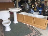 Hardly used Heritage Bathroom suite - XL long bath- was part house second bathroom!!