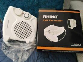 3 x rhino 2kw fan heater unused good as new.