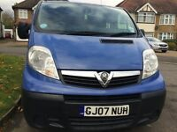 2007 Vauxhall Vivaro 2.0cdti Combi SWB 9seats DIESEL 5dr Mini Bus,115000 Miles,07 Reg,Blue Color