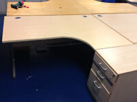 office corner desk right angle with office pedestal filing cabinet 3 drawer
