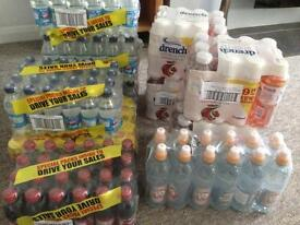 Job lot of soft drinks going cheap