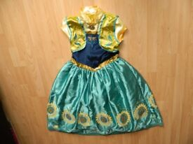 NEW THE DISNEY STORE 11-12 YEARS FROZEN ANNA FANCY DRESS COSTUME