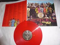 "THE BEATLES RARE RED VINYL LP-"" SGT PEPPERS..""-UNPLAYED . PCS 7027"