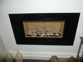 Marble Fire Surround - 4 piece, Black Onyx