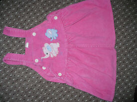 Bundle of 2 Dungaree Skirts/ Dresses for Girl 12-18mths old. Good condition.