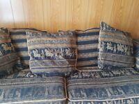 Black and gold sofa
