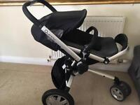 Quinny buggy and bassinet