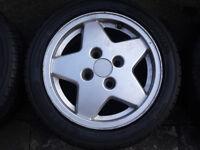 Set 4 Alloys & Yokohama tyres 185/50R14, 6J x 14 H2 E41
