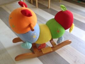 Rocking Caterpiller, soft toy, up to 2/3 years. Rocking Horse.