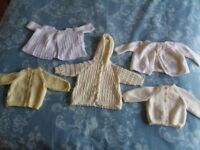 Bundle of Clothes Hand Knitted Baby Cardigans Nearly New Newborn Children's Clothes