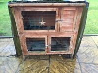 Double hutch plus run and extras
