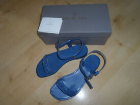 MULBERRY SANDAL BLUE JESUS STYLE SIZE 39 WITH BOX
