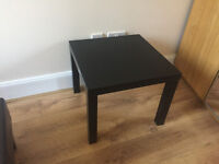 Nice black square table - great condition.
