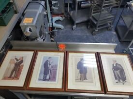 12 WALL LITHO PRINTS FOR DECORATION OF HOUSE OR RESTAURANT, CAFE ETC AST164