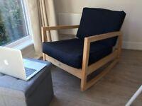 Armchair Ikea black (£30 – Walton-on-Thames)