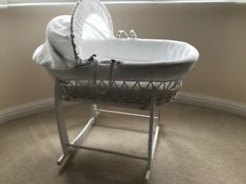 Moses basket and stand hardly used pick up only