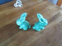x 2 Skylac Rabbits, Green.