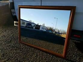 Nice large pine framed mirror. Ideal for upcycling for living room etc