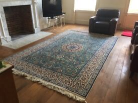 Oriental wool carpet Nain