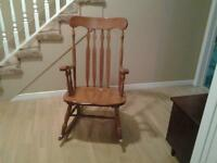 Maple Rocking Chair with chair pad