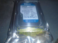 WD Blue 160GB Internal Hard Drive 7200 RPM 8MB Cache SATA 3.0Gb/s, New And Sealed, 3 Available