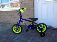Toddler's bike with stabilisers