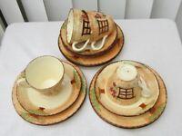 Vintage tea set - Burlington Ware - Cottage - 16 pieces