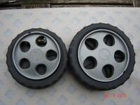 Mountfield Mower 474 - 2 Wheels - Used Decent Wheels - Hard to Find - Large and Small