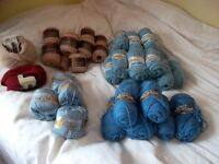 knitting wool assorted -vintage - good quality