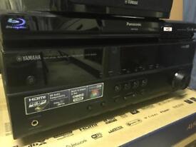 Yamaha AV Receiver 5.1 + Panasonic Blu Ray player + More