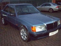 CLASSIC MERCEDES 190 IN STUNNING CONDITION THROUGHOUT NEW MOT REDUCED TO £1495 NO OFFERS