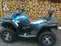 2016 CF Moto Quadzilla LWB Road legal Quad 500cc 4x4 alloy wheels, winch, towbar Electronic Steering