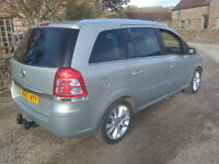Vauxhall Zafira Elite 2008 Cat D salvage, 80K miles, wing and front bumper damage........