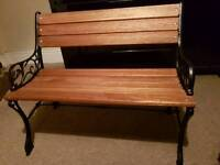 Antique cast iorn bench
