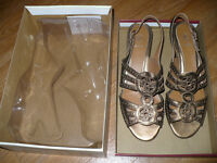 Clarks K Golden Sandals size 7 (40EU), soft leather, worn once for very short time so like new!