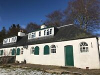 Three bedroom stone-built farm cottage near Alyth/Glenisla
