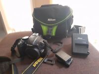 Nikon D D3100 14.2MP Digital SLR Camera - Black with extras