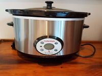 Morphy Richards 48730 6.5L Auto Electric Digital Stainless Steel Slow Cooker - Excellent Condition