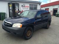 2003 Mazda Tribute DX V6 FWD 1450$ TAX ET TRANSIT INCLUS 514-692