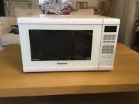 Panasonic Microwave and IKEA coffee table