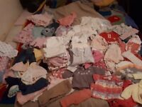 Newborn amd 0-3 month girl clothes exellent condition most top brands next ect everything u need