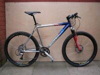 scott racing team limited mountain bike, deore xt, mavic, rockshox
